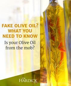 Fake Olive Oil? What you need to know. http://DrHardick.com