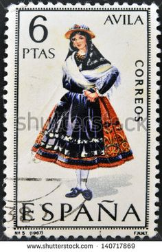 """Podobne obrazy, zdjęcia stockowe i ilustracje wektorowe: ISTANBUL - APRIL Belorussian children in traditional costume perform at the """"National Sovereignty and Children Day"""" festival at Maltepe University on April 2010 in Istanbul, Turkey. Spanish Costume, Spanish Dress, Sell Stamps, Love Stamps, Postage Stamp Art, Stamp Catalogue, Vintage Stamps, Mail Art, Stamp Collecting"""