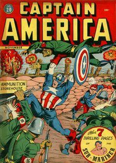 Captain America Comics # 20 by Syd Shores