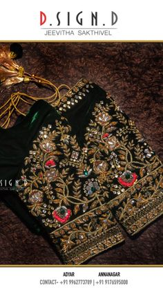 Ideas embroidery blouse indian clothing for 2019 Blouse Designs Silk, Designer Blouse Patterns, Bridal Blouse Designs, Shirt Embroidery, Embroidery Fashion, Embroidery Designs, Wedding Embroidery, Indian Blouse, Indian Saris