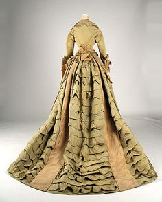 Dress, Mon. Vignon, ca. 1872, French, silk - Loving the crazy back of this dress!