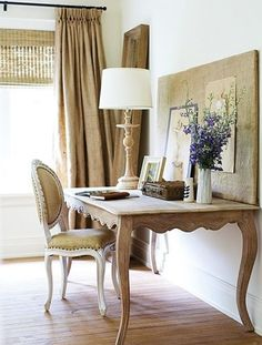 Roman shade, burlap tailored window drapery.