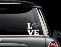Love Volleyball Car Window Decal. Decals made out of outdoor fdc vinyl. They can be placed on your car windows or any other hard surface. by MoreThanGlitz on Etsy