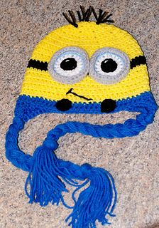 Minion Earflap Hat - free pattern Newborn to adult