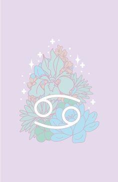 'Cancer Zodiac Flowers - PASTEL' by VenusandMoon