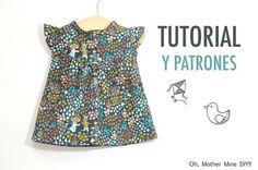 DIY Cómo hacer vestido para niñas (patrones gratis incluidos)