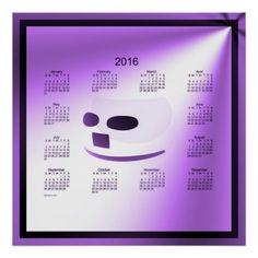 2016 Purple Smile Calendar by Janz Poster