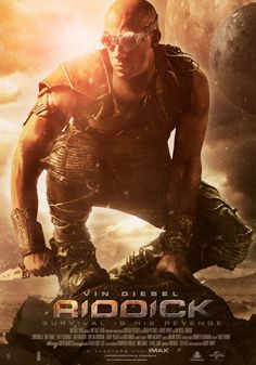 Vin Diesel perched as Riddick in fourth poster from the movie
