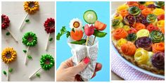 20 Ways to Make Your Food Look Like Flowers. Oh how much fun this will be.  Can't wait to serve these.