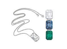 "Swarovski Versatile ""Verso"" Long Pendant  #Swarovski #Jewelry #Crystals #Pendant #Versatile #FallWinter2014 #MarianaCarmona #JewelleryDesigner #Blue #Green"