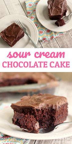 Sour Cream Chocolate Cake - Kitchen Fun With My 3 Sons