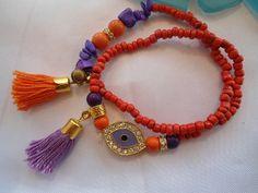 SALE EXOTIC QUEEN .. Bohemian Gypsy style Bracelets  by Nezihe1, $19.00