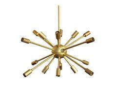 "Mid Century Modern Sputnik Chandelier No. 3 by LucentLightshop 22"" drop, 24""w without bulbs"