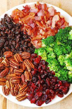 Broccoli Pecan Cranberry Salad with Bacon