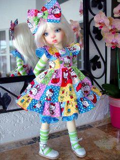 Dress fits Kaye Wiggs MSD BJD Mei Mei by CharmersDollDesigns, $69.95  etsy
