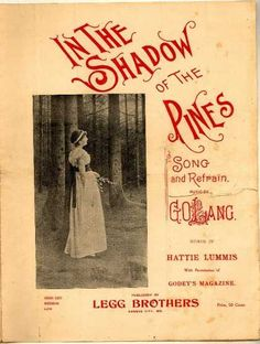 Sheet Music - In the shadow of the pines