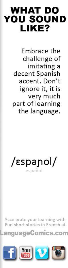 #spanish -  Don't ignore it! It matters.  http://www.LanguageComics.com