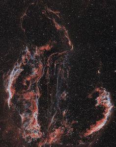 Western and Eastern Veil Nebula by Daniele Malleo on Flickr.