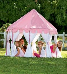 Pink Party Pavilion Play Tent - contemporary - outdoor playsets - - by HearthSong