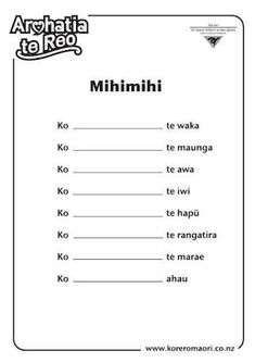 Image result for mihimihi template