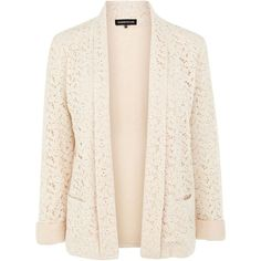 Warehouse Contrast lace jacket ($85) ❤ liked on Polyvore