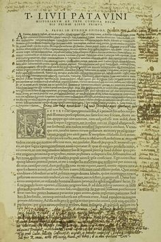 Gabriel Harvey's annotated copy of Livy's history of Rome