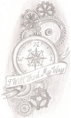 steam punk compass by jkucinic.deviantart.com I think I may have found my next tattoo but change just a couple things around and out to make it more of somewhat my own. been looking to found something to go off of and give me an idea.: