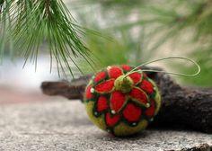 Needle felted -Waldorf ornament-Christmas tree decoration-Vintage style-needle felt by Daria Lvovsky. $28.00, via Etsy.