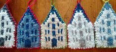 Ravelry; knitting pattern for Amsterdam canal houses