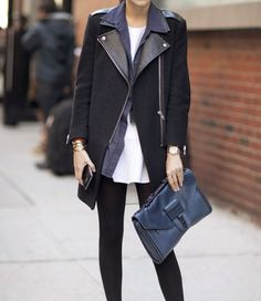 Black & Navy (love this jacket)