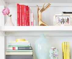 Bookshelf style.
