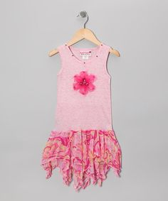 Take a look at this Pink Watercolor Handkerchief Dress - Toddler & Girls by Kash Ten on #zulily today!
