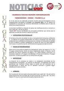 REDACCIÓN SINDICAL MADRID: Celebrada tercera reunión homogenización trabajado...