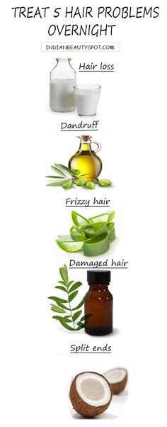 Treat 5 hair problems overnight naturally