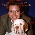James Martin Celebrity chef James Martin often finds time for PDSA and is pictured here with his dog, the tastily-named Fudge. Chef James Martin, Mr Martin, Clumber Spaniel, Spaniels, Love Your Pet, Dog Love, Vintage Nurse, Famous Names, Celebrity Chef