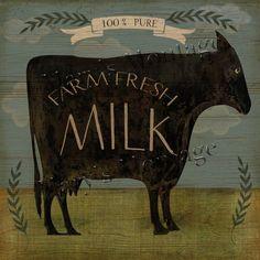 Buy Art For Less 'Farm Fresh Milk' by Beth Albert Graphic Art on Canvas Size: 24 Primitive Folk Art, Country Primitive, Primitive Painting, Primitive Signs, Primitive Crafts, Painting Frames, Painting Prints, Paintings, Tole Painting
