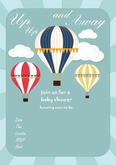 Hot air balloon birthday invitation time flies hot air balloon free baby shower invitation hot air balloon up filmwisefo