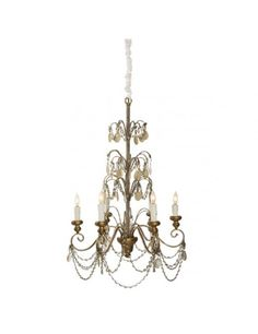 The Aidan Gray Villa Lantre chandelier has swags of crystals and glass beads flowing from a frame with gilded gold and bright gold finishes, all forming such graceful lines. Antique Furniture, Modern Furniture, French Chandelier, Led Flashlight, Ceiling Lights, Lighting, Antiques, Inspiration, Beautiful