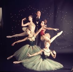 The dancers in emeralds with George Balanchine.!!