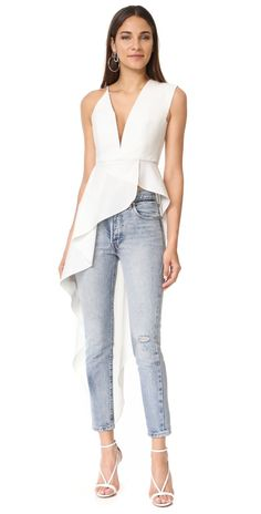 Michelle Mason Asymmetrical Plunge Cascade Top | SHOPBOP SAVE UP TO 25% Use Code: EVENT17