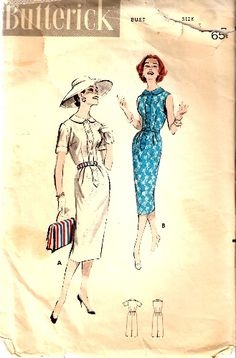 I REALLY want this pattern Vintage Dress Patterns, Vintage Dresses, Vintage Outfits, Vintage Fashion, Vintage Style, Contrast Collar, Vintage Inspired, Size 14, Print Patterns