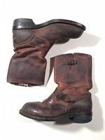 Chippewa Boots Engineering Motorcycle Brown Men's Size 11 EE Chippewa Boots, Mens Motorcycle Boots, Engineering, Footwear, Brown, Mens Motorcycle Riding Boots, Shoe, Zapatos, Shoes