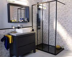 Jolie salle de bain au style industriel #houses #interiors #bathroom #bath #design #deco #decoration #maison #salledebain