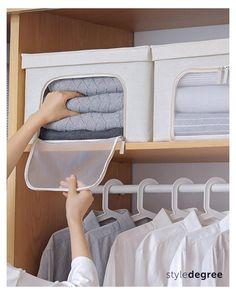 Small Closet Organization, Home Organization Hacks, Closet Storage, Box Storage, Clothes Storage Boxes, Cupboard Storage, Diy Clothes Life Hacks, Bed Sheets, Packing Tips