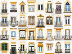 "Portuguese photographer André Vincent Gonçalves started out taking snapshots of colorful windows in his native Évora; his ""Windows of the World"" project has since grown—and gone viral. Gonçalves spoke to Conde Nast Traveler about the windows that inspire. Evora Portugal, Timber Fencing, Metal Fence, Front Yard Fence, Low Fence, Goncalves, Backyard Fences, Fence Garden, Farm Fence"