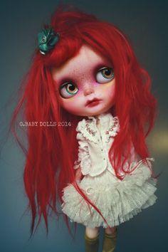 G.Baby OOAK Custom Blythe doll Saffron