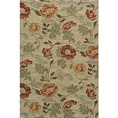@Overstock.com - South Beach Sand Summertime Indoor/Outdoor Rug (5' x 8') - Liven up the living room or the patio with this South Beach style floral indoor-outdoor rug. The contemporary 5 x 8 piece is easy to clean as well as attractive