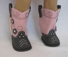 OFFER Brown and Pink COwboy Boots