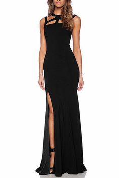 Cut Out Maxi Dress with Side Split