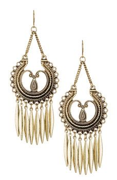 Stephan & Co - Textured Chandelier Fringe Earrings